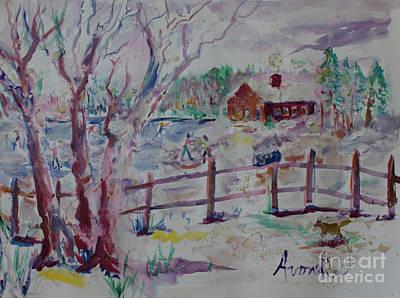 Winter's Joys Art Print by Avonelle Kelsey