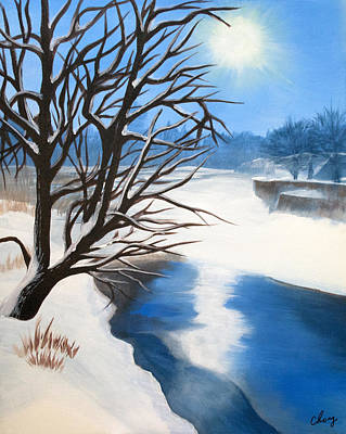 Painting - Winter Solstice by Long Studios