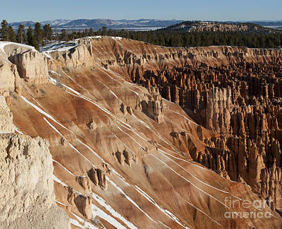 Photograph - Winter's Last Touch - Bryce Canyon by Sandra Bronstein