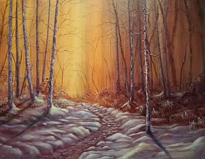 Wa Painting - Winter's Light by Xochi Hughes Madera