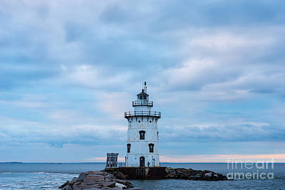 Winter's Morn At Saybrook Breakwater - New England Lighthouse Art Print