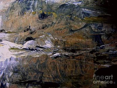 Mixed Media - Winter's Mountain by Nancy Kane Chapman