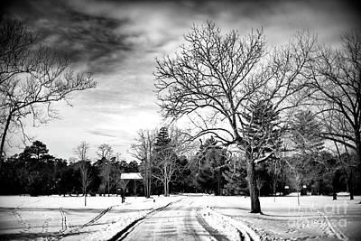 Photograph - Winter's Path At Batso Village by John Rizzuto