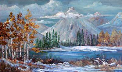 Lynn Burton Wall Art - Painting - Winters Peace by Lynn Burton