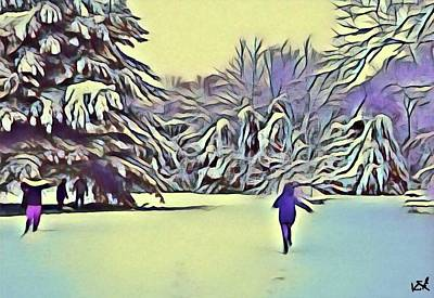 Digital Art - Winter's Playground by Kate Hart Nardone