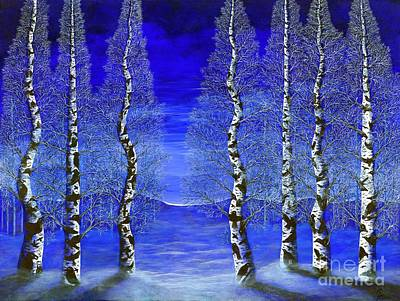 Painting - Winters Raven Aspen by Rebecca Parker
