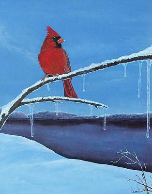Winter's Red Art Print by Susan DeLain