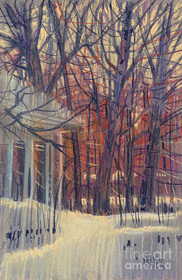 Drawing - Winter's Snow by Donald Maier