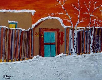 Winters Storm Santa Fe Nm Print by Joseph Frank Baraba