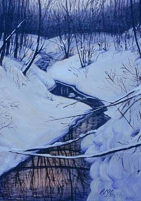 Painting - Winter's Stream by Barbel Smith