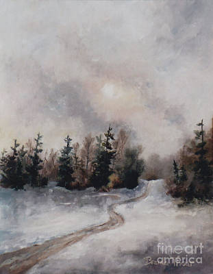 Painting - Winters Sunset by Brenda Thour