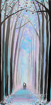 Painting - Winter's Walk by Stacey Zimmerman
