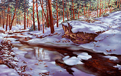 Painting - Winter's Warmth by Hans Neuhart
