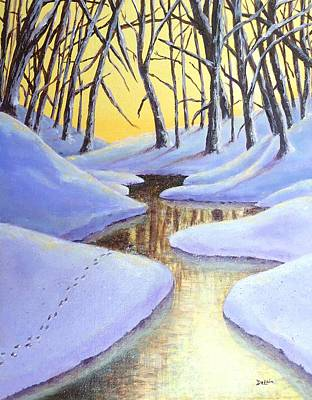 Winter's Warmth Art Print by Susan DeLain