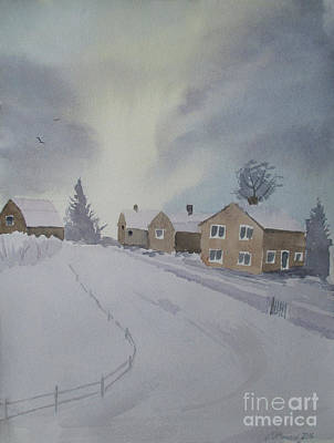 Painting - Winter's Way by Martin Howard