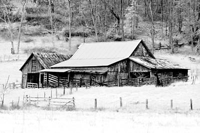 Farm Scene Photograph - Winter's White Shroud by Tom Mc Nemar