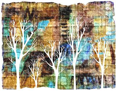 Winterscape 2 Art Print by Mimo Krouzian