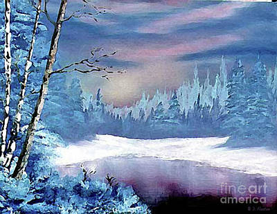 Painting - Winterscape by Dee Flouton