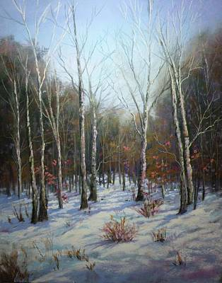 Winterscape Art Print by Paula Ann Ford