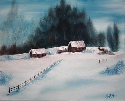 Painting - Winterscene by Barbara Teller