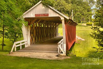 Photograph - Winterset Iowa Historic Bridge by Adam Jewell