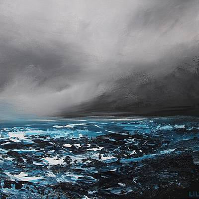 Painting - Winterstorm by Lilu Lilu