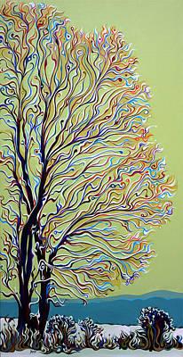 Wintertainment Tree Art Print