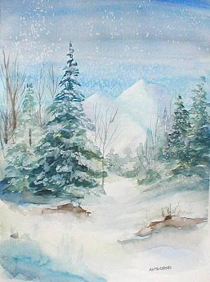 Painting - Wintertime by Anita Carden