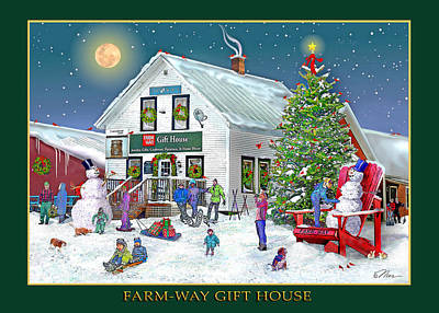 Digital Art - Wintertime At Farmway In Bradford Vermont by Nancy Griswold