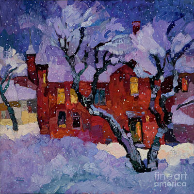 Winter Scenes In Oil Painting - Wintertime by Larisa Aukon