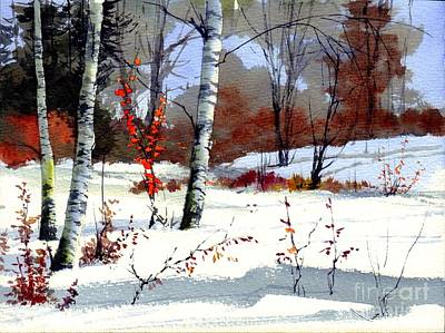Countryside Painting - Wintertime Painting by Suzann's Art