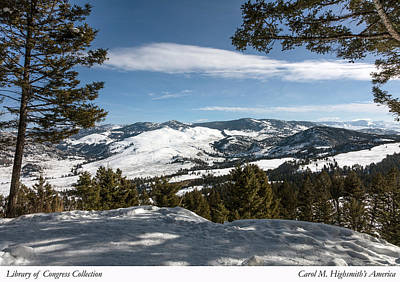 Photograph - Wintertime View From Hellroaring Overlook In Yellowstone National Park by Carol M Highsmith