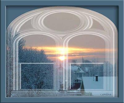 Winterview From My Window Art Print by Carola Ann-Margret Forsberg