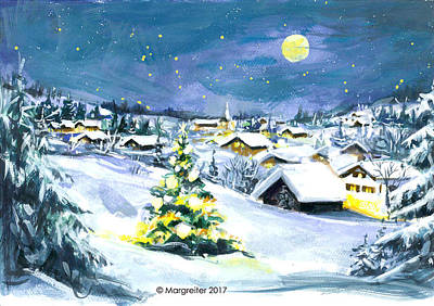 Night Pastel - Winterwonderland by Johannes Margreiter