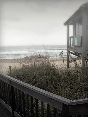 Wintery Beach Morning Art Print by Julie Palencia