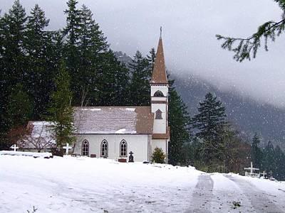 Wintery Church Original