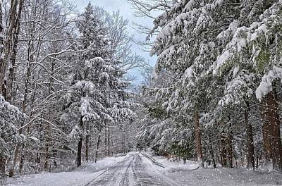 Photograph - Wintery Country Road by Bernadette Chiaramonte