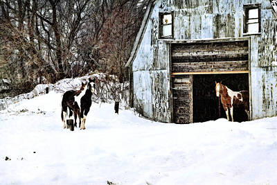 Art Print featuring the photograph Wintery Day by Gary Smith