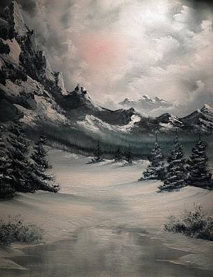 Snowscape Painting - Wintery Mountain by John Koehler