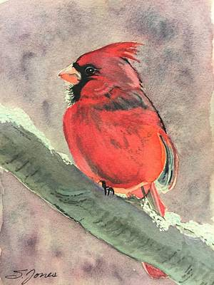 Painting - Wintery Red by Sonja Jones