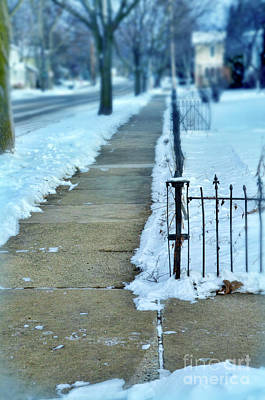 Photograph - Wintery Sidewalk by Jill Battaglia