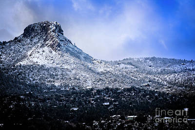 Photograph - Wintery Thumb Butte by Scott Kemper