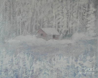 Painting - Wintery Woodland by Al Hunter