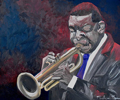 Recently Sold - Music Paintings - Winton Marsalis by Michael Lee