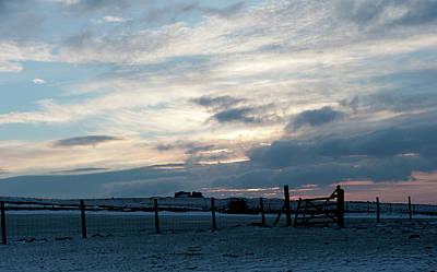 Photograph - Wintry Dartmoor Sky by Helen Northcott
