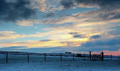 Photograph - Wintry Dartmoor Sky II by Helen Northcott
