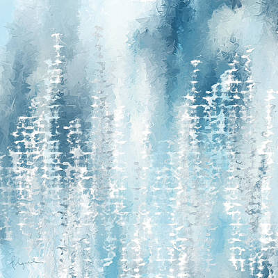 Winter Scene Art Painting - Wintry Frenzy by Lourry Legarde