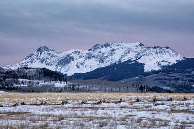 Photograph - Wintry Mountain After Sunset by Denise Bush