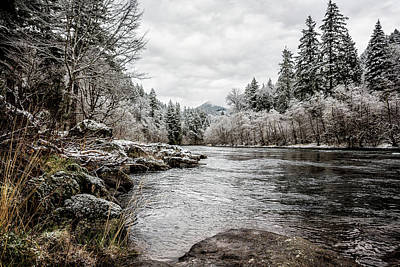 Photograph - Wintry River by Belinda Greb