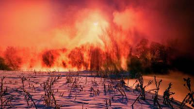 Photograph - Wintry Russian Sunrise by Kate Voitova